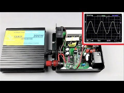Inside of a Pure Sine-Wave Inverter + Output Waveform Test