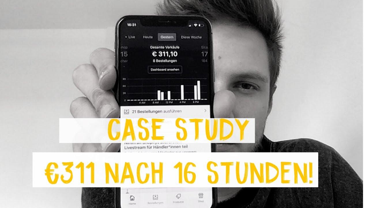 CASE STUDY: €311/Tag nach 16 Stunden! Dropshipping Deutsch | Teil 1