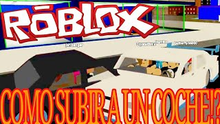 AS GETTING INTO A CAR IN ROBLOX ON ANDROID! updated 2017 as driving in Roblox!