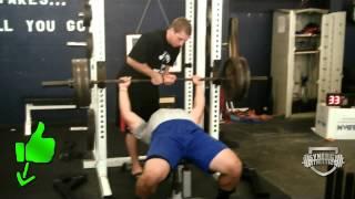 405 lb High School Football Bench Press Gym Record