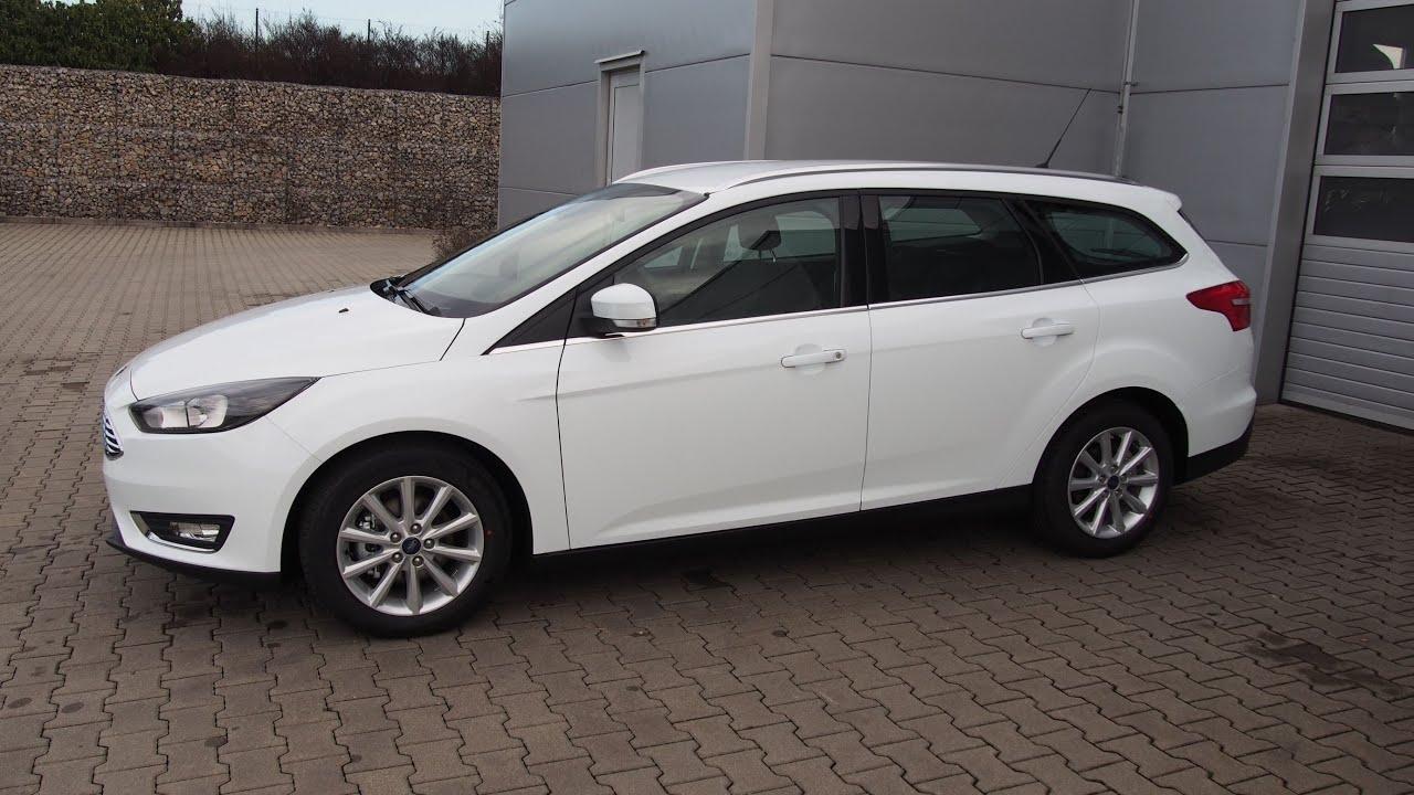 Ford Mondeo 2015 White >> Focus Titanium wagon Frozen white - YouTube