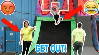 KICKED OUT OF A TRAMPOLINE PARK!