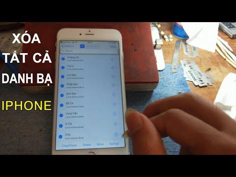 CÁCH XÓA TẤT CẢ DANH BẠ TRÊN IPHONE