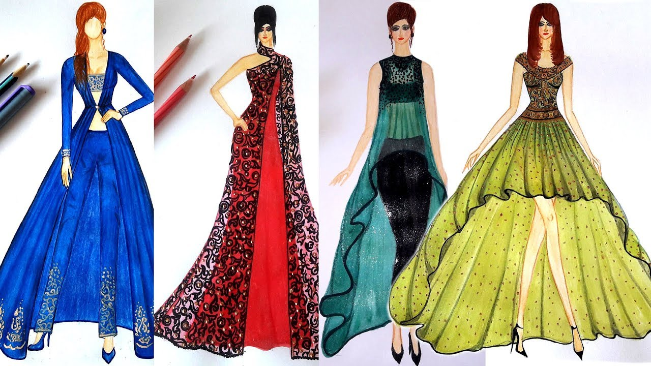 Fashion Design Dresses Youtube