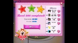 Candy Crush Saga Level 208 ★★★  NO BOOSTER - NEW