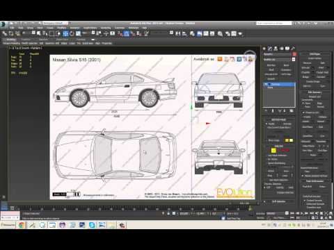 3DS Max, Best way to setup blueprints for High Quality And Easy Use