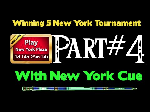 Winning 5 New York Plaza Tournament With New York Cue 8 Ball Pool + 4rd Ring!! Part #4
