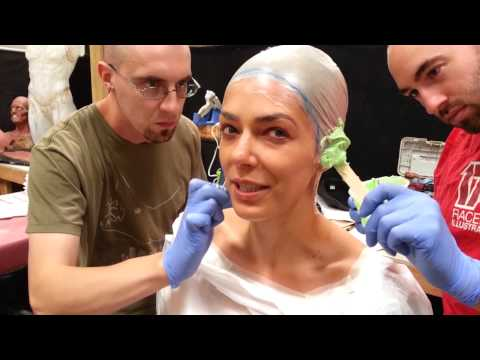 Adrianne Curry getting ready for ComicCon 2014 - Cat Woman