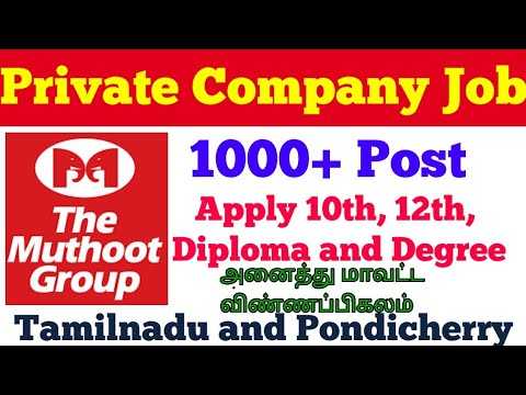 MUTHOOT GROUP OF COMPANIES RECRUITMENT Jobs