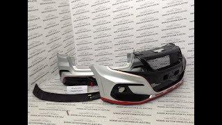 Комплект для а/м Lada Granta лифтбек.Цвет Платина/Черный/Красный.