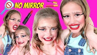 No Mirror Silly Colorful Makeup Challenge Tutorial