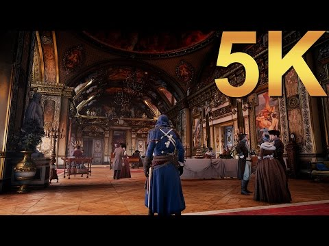 Assassin's Creed Unity ACU 5K Ultra High Gameplay High Resolution PC Gaming 4K | 5K | 8K And Beyond