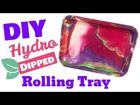 Custom Beauty Tray/Rolling Tray/ Hydro dipped/ hydro dipping/ easy craft