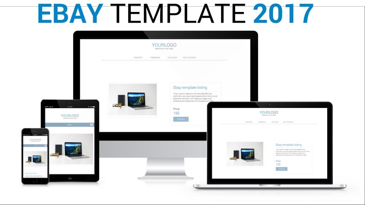 ebay listing template 2017 responsive mobile friendly youtube. Black Bedroom Furniture Sets. Home Design Ideas
