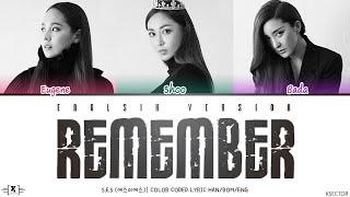 S.E.S. (에스이에스) - Remember (English Version) Lyrics [Color Co…