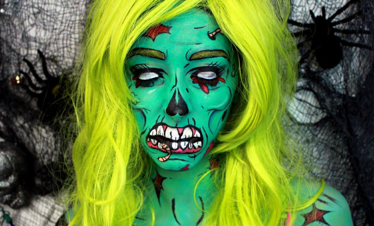 maxresdefault jpgPop Art Zombie Makeup