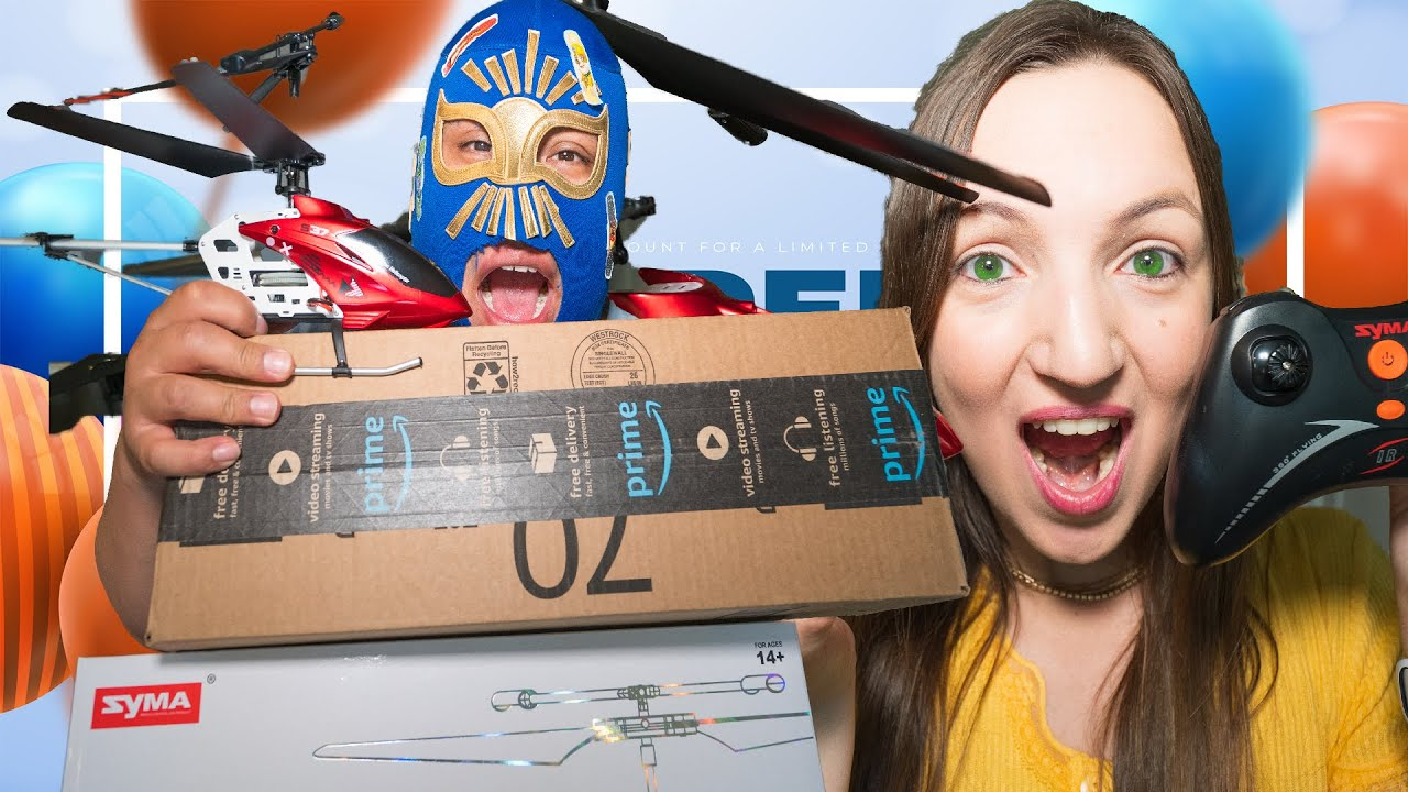 Pretend Play Fun Toy Review SYMA Helicopter, Jugando con el Helicoptero