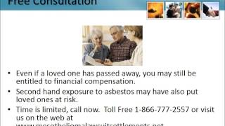 Asbestos Lawyer New Jersey 1-866-777-2557 Asbestos Lawsuit NJ Lung Cancer Attorneys