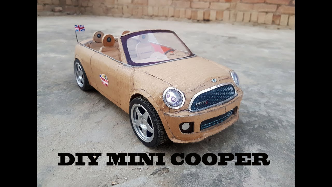 Super Rc Mini Cooper How To Make Cardboard Diy Electric Toy Car