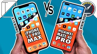 iPhone 12 Pro Max vs Huawei Mate 40 Pro Speed Test