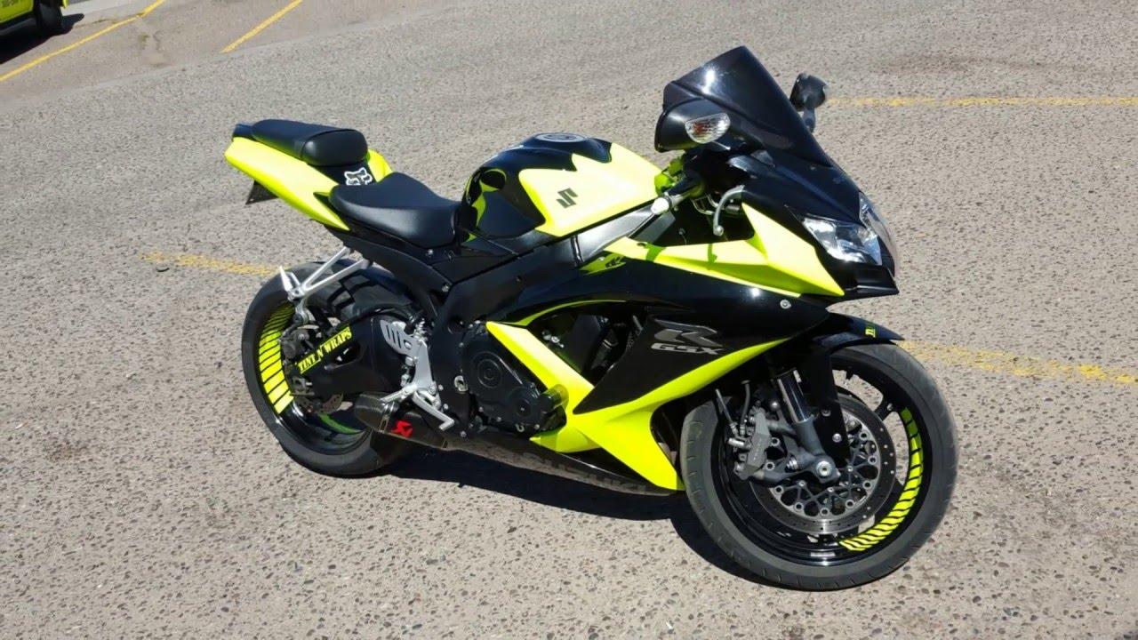 Yellow Suzuki Gsxr