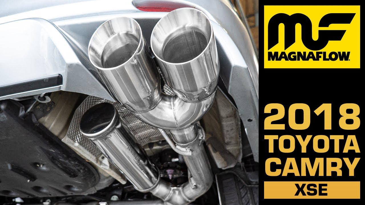 hear the sound 2018 2021 toyota camry xse v6 magnaflow cat back exhaust part 19411