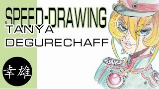 Tanya Degurechaff (Youjo Senki) |Speed Drawing / Таня Дегуречафф (Военная хроника маленькой девочки)