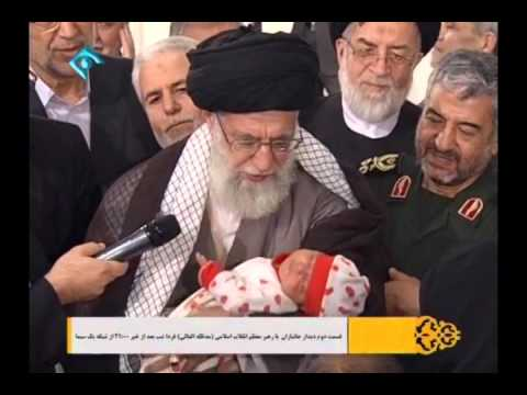 Leader Ayatullah Khamenei saying Azan to Newborn Child - Must Watch