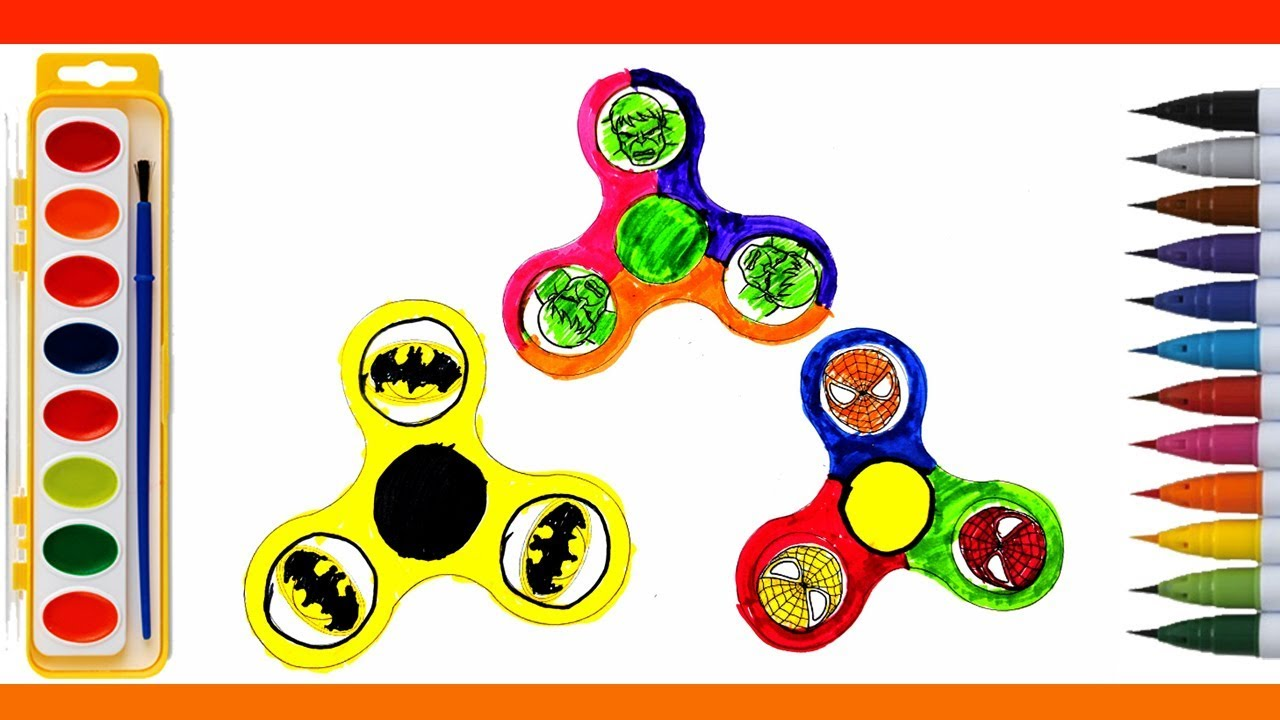 Fidget Spinner Coloring Pages Learn Colors With Fidget