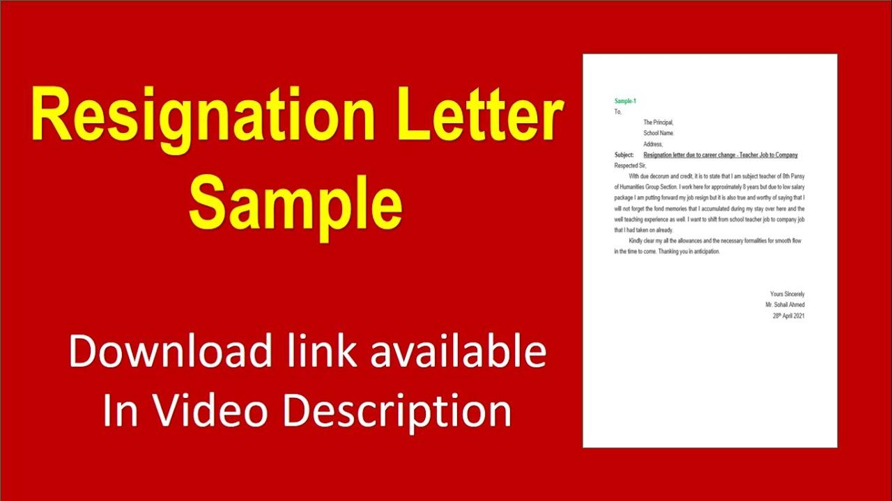 Microsoft Word Resignation Letter from i.ytimg.com