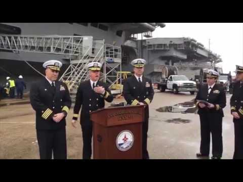 USS GEORGE H. W. BUSH CVN 77 & GHWB Carrier Strike Group to Depart for Deployment