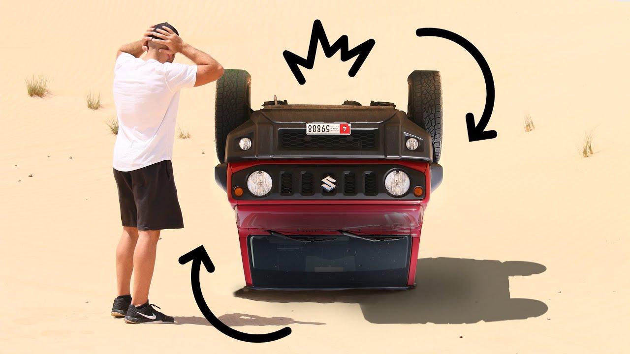 قلبت سيارتي في الصحراء، حادث سوزوكي جمني