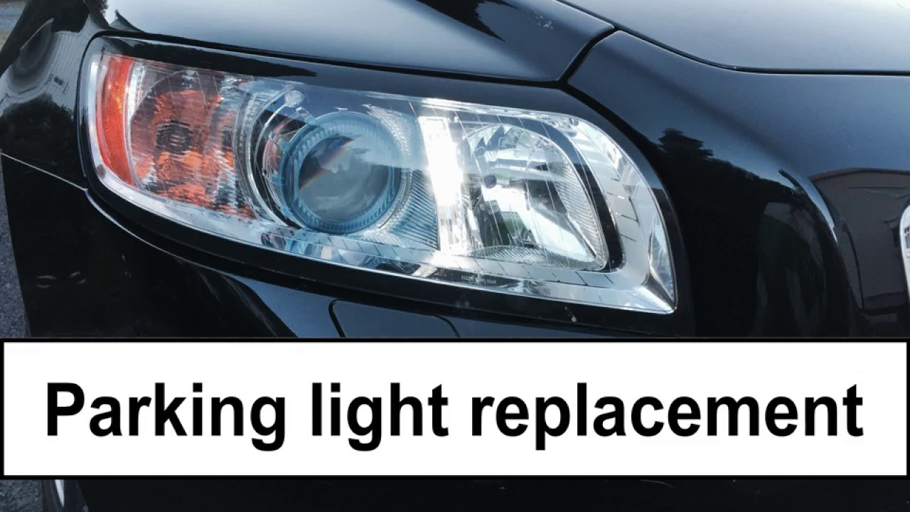 Volvo V50 2008 Parking Light Bulb Replacement