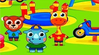Детский сад животные   Детский развивающий игровой мультик для детей