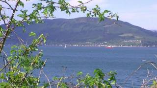 Watching Ferries, Yachts and Canoes go by in Gourock.