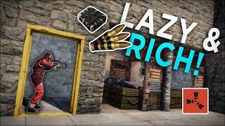 RAIDING the RICHEST and LAZIEST NEIGHBOURS for HUGE PROFIT! - Rust Solo Survival #6