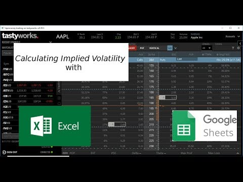 Calculating The Implied Volatility Of An Option With Excel (or Google Sheets)