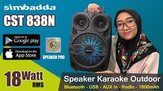 Simbadda Portable Karaoke Speaker CST 838N