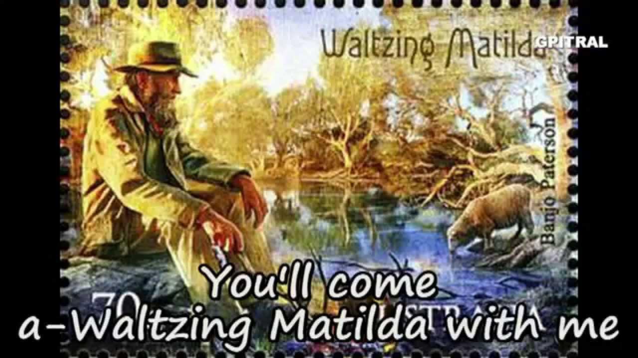 Waltzing Matilda lyrics Children's song Karaoke