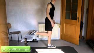 Einbeinige Kniebeugen - Variante 1 (Single Leg Split Squat)