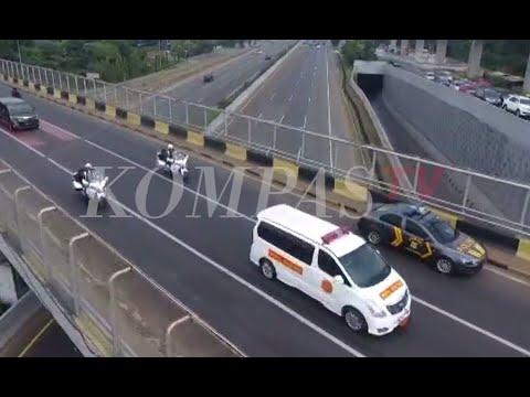 Pantauan Udara Iring-iringan Jenazah Ani Yudhoyono