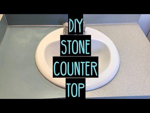 $40 - Transforming Outdated Bathroom Countertops | DIY