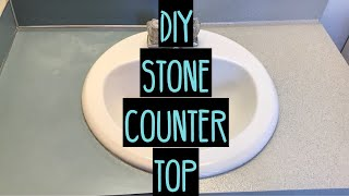 $40 - Transforming Outdated Bathroom Countertops | DIY
