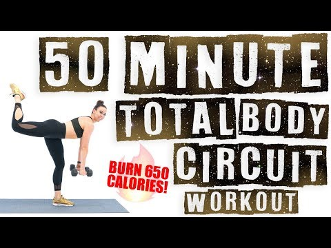 50 Minute Total Body Circuit Workout ��Burn 650 Calories! ��