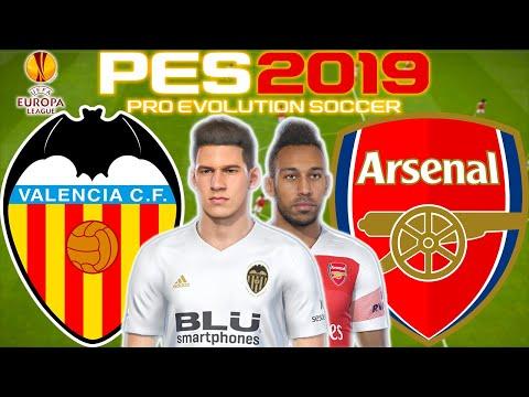 Valencia vs Arsenal Prediction | UEFA Europa League Semi Final 2nd Leg 9th May | PES 2019 Gameplay