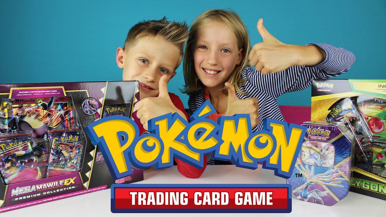 POKEMON Rare EX Trading Cards - YouTube