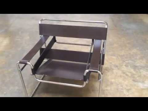 Mid Century Wassily Chair By Marcel Breuer For Stendig   YouTube