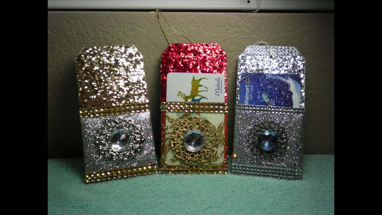 Diy gorgeous gift card holder christmas ornament sooo easy youtube negle Images