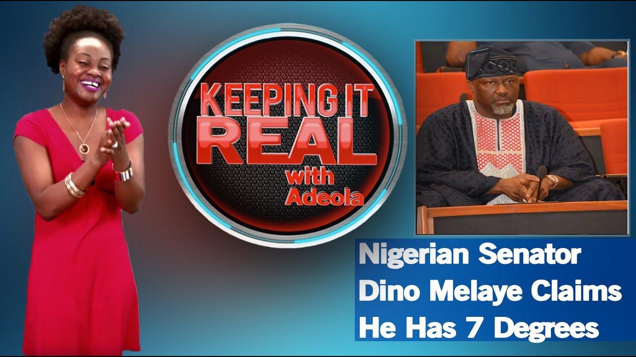 Keeping It Real With Adeola 255 (Nigerian Senator Dino Melaye Claims He Has 7 Degrees)