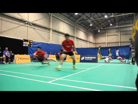 AirAsiaBadmintonAcademy Men's Double Match Point in 2014 NBC Sydney International